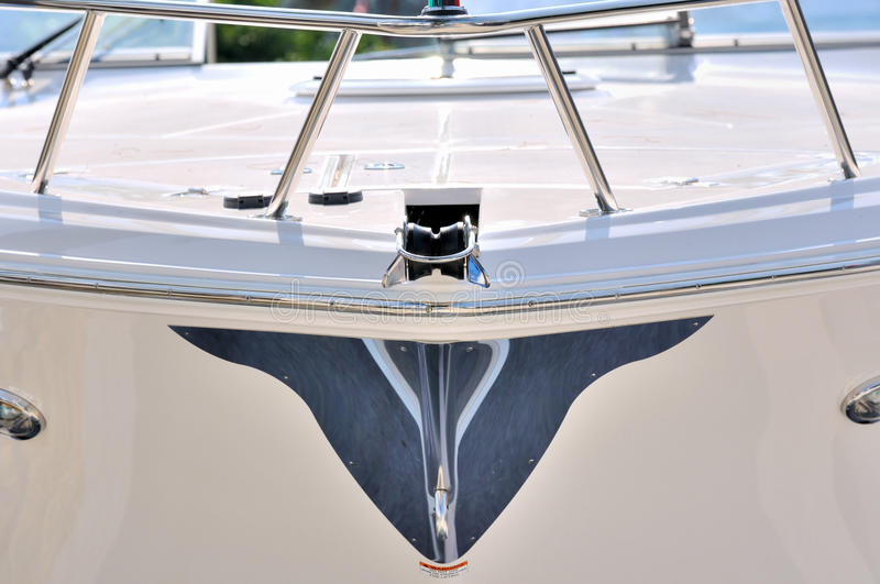 Image From Body Of A Yacht Stock Image