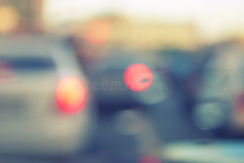 Image brouillée des voitures images stock