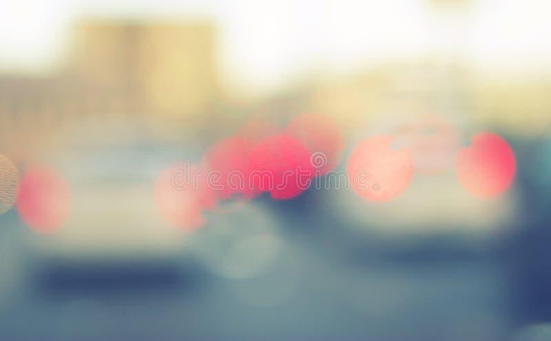 Image brouillée des voitures image stock