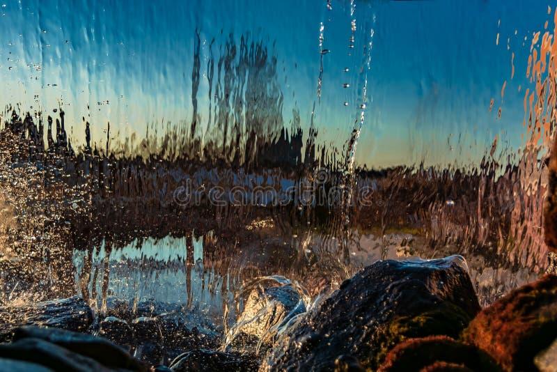 Image brouillée par l'eau en baisse image libre de droits
