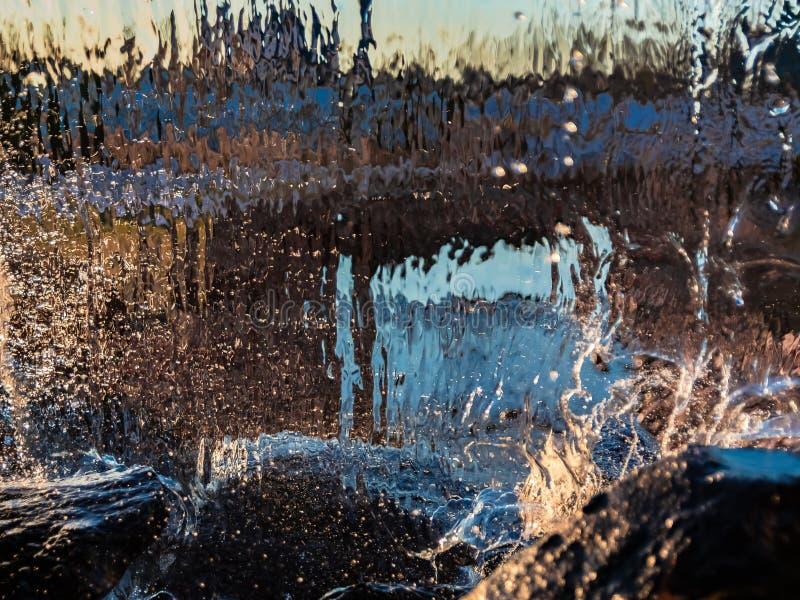 Image brouillée par l'eau en baisse photo libre de droits