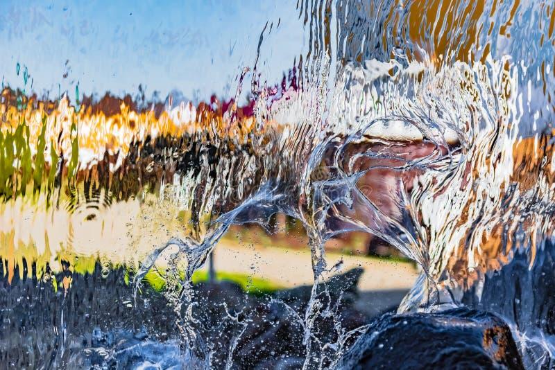 Image brouillée par l'eau en baisse image stock