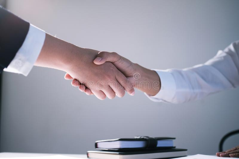 Image business mans handshake. Business partnership meeting successful concept. royalty free stock photography