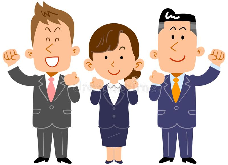 The image of a Business team, employee youth royalty free illustration