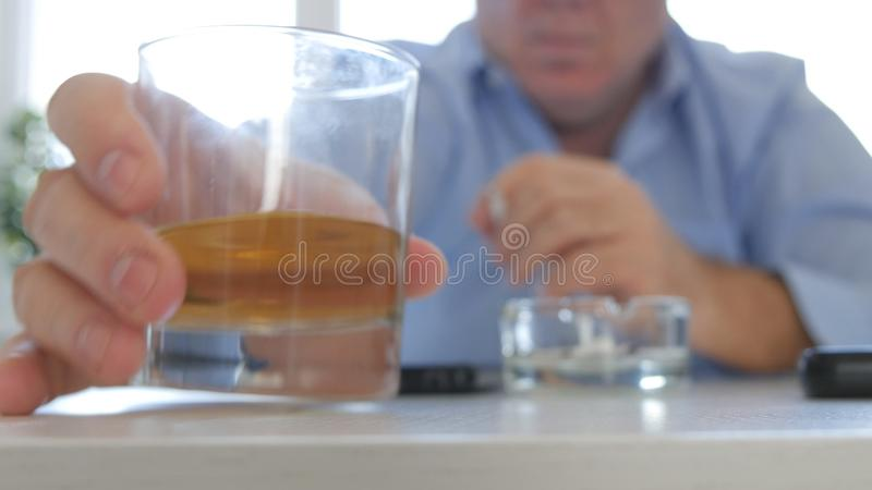 Businessman Paying Online Shopping with Credit Card Using Smartphone royalty free stock photography