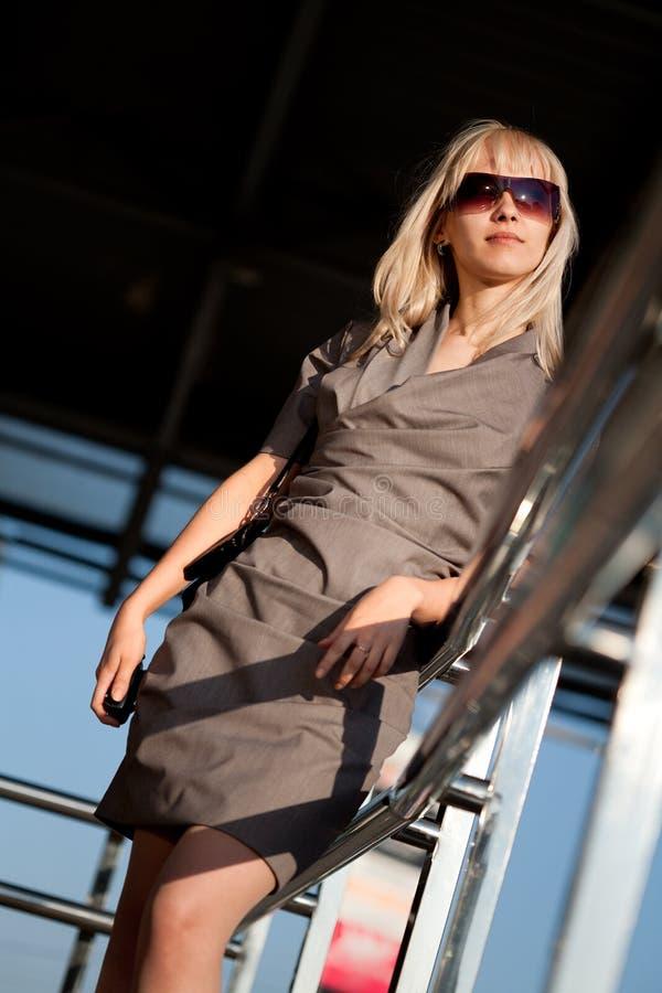 Businesswoman outdoors