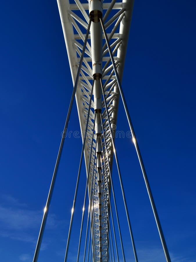 Lusitania bridge. Image of Calatrava bridge lusitania stock image