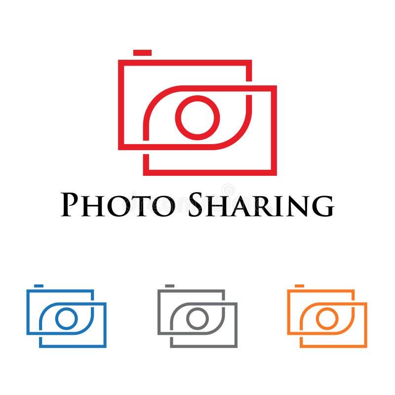 Image Camera Share Photography Sharing Technology.  royalty free illustration