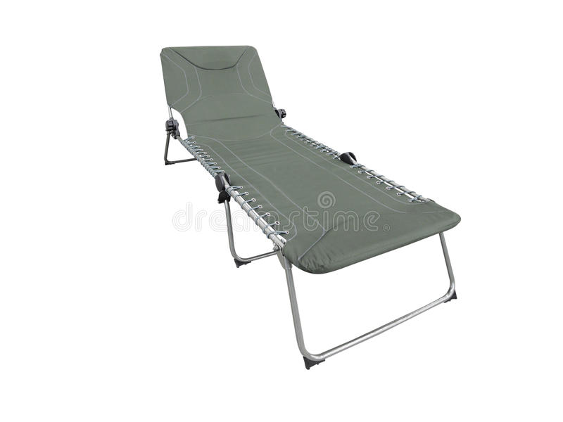 The image of camp bed stock photography