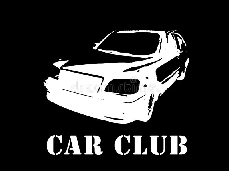 The image of the car for use as a stencil royalty free stock photos