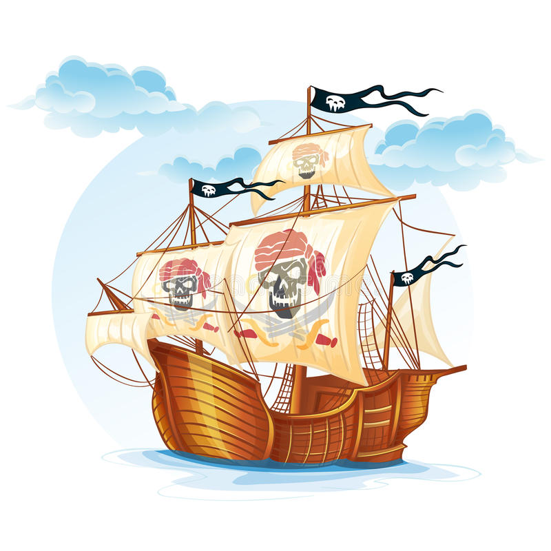 Free Image Caravel Ship Pirates. XV Century Royalty Free Stock Images - 43278529