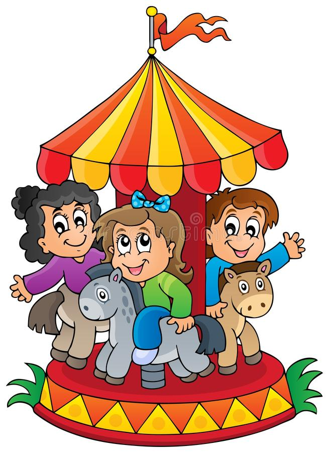 Image with carousel theme 1 vector illustration