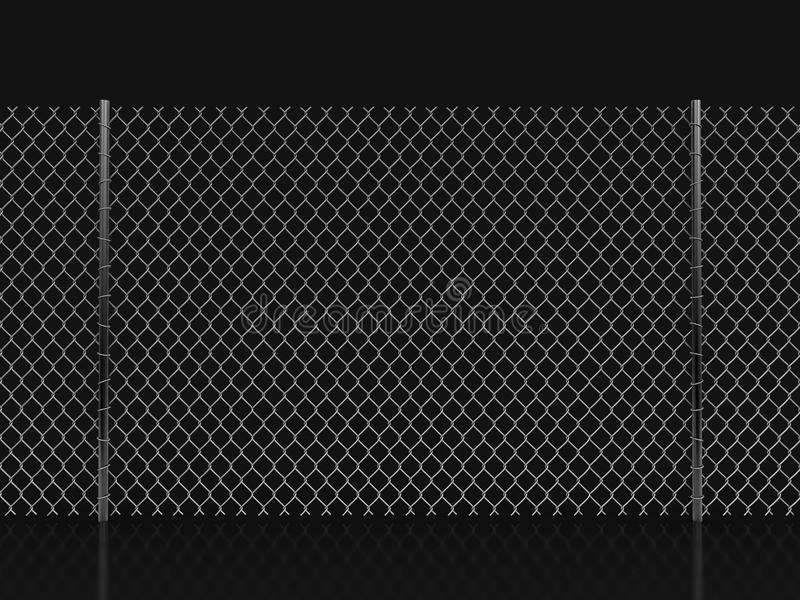 Image of Chainlink fence. Chainlink fence. Image with clipping path stock illustration