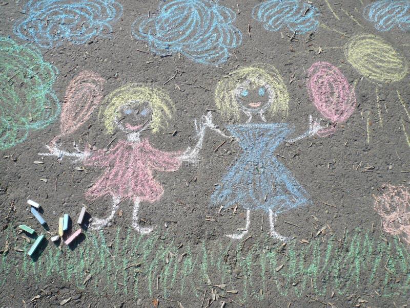 Download Image chalk on asphalt stock photo. Image of symbol, asphalt - 16025888