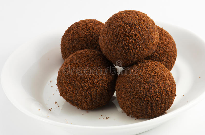 Image of chocolate balls royalty free stock images
