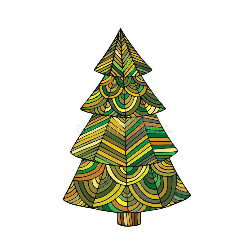 the image of a christmas tree stock vector illustration of ethnic rh dreamstime com christmas tree looks christmas tree log cabin quilt pattern