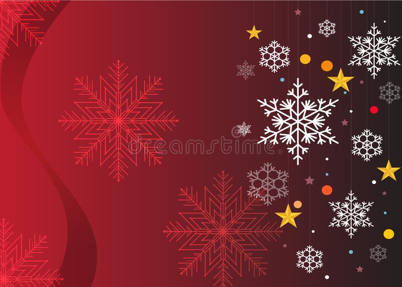 Christmas wishes, stars, background bow with stars stock illustration