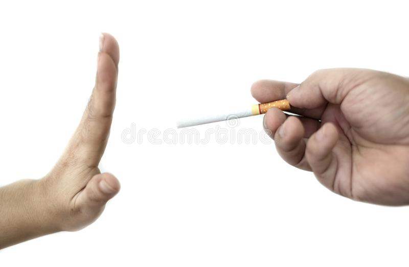 Image of cigarette in hand, Stop smoking concept, World No Tobacco Day ,Smoking does not hurt you alone It also hurts the people a. Round you and everyone in stock images