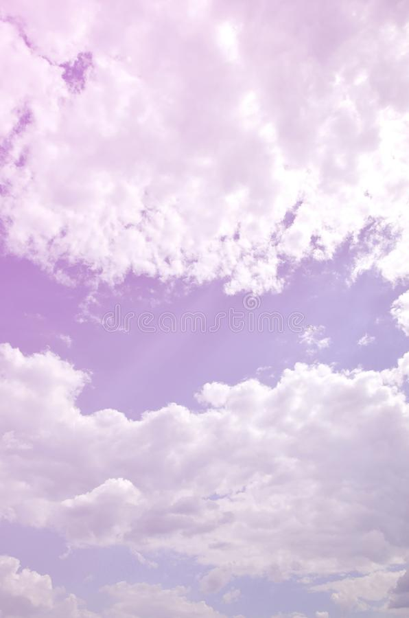 Image of clear blue sky and white clouds on day time for background usage.  royalty free stock image