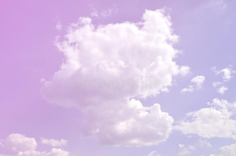 Image of clear blue sky and white clouds on day time for background usage.  stock photos
