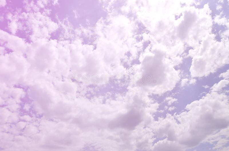 Image of clear blue sky and white clouds on day time for background usage.  royalty free stock images