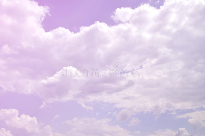 Image of clear blue sky and white clouds on day time for background usage.  royalty free stock photos