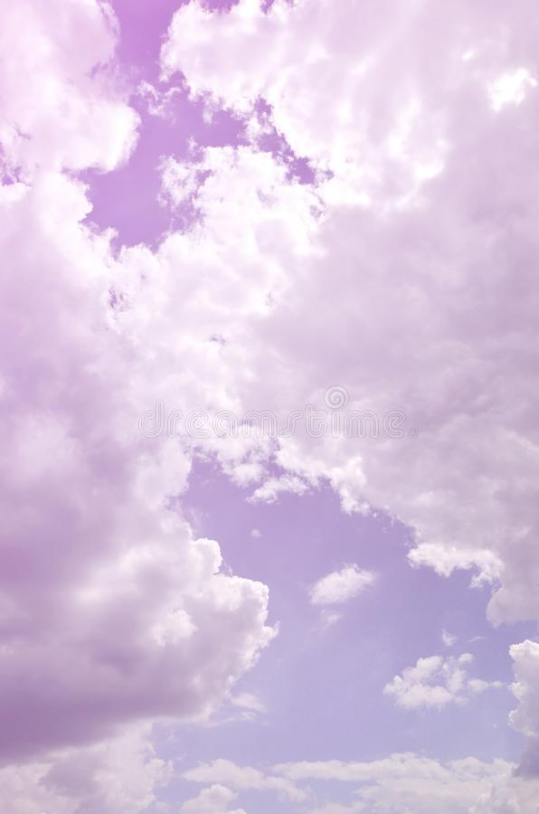 Image of clear blue sky and white clouds on day time for background usage.  stock images