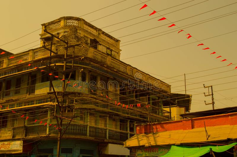 Ancestors building in indore stock images