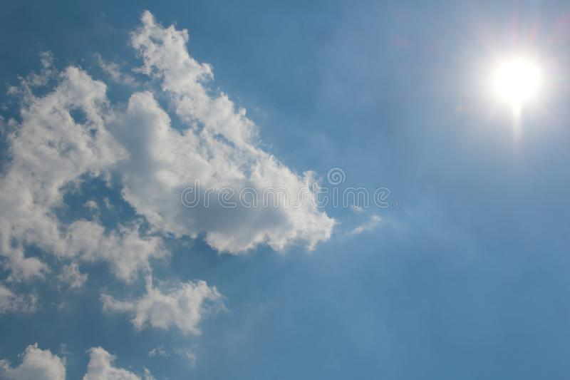 Cloud and blue sky. Image of cloud and blue sky in soft focusing stock photos