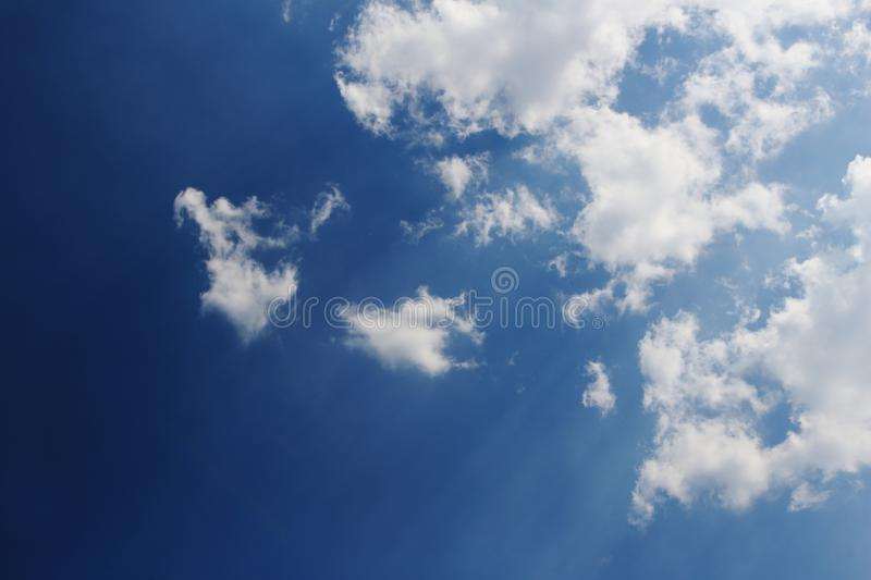 Cloud and blue sky. Image of cloud and blue sky in soft focusing stock photo