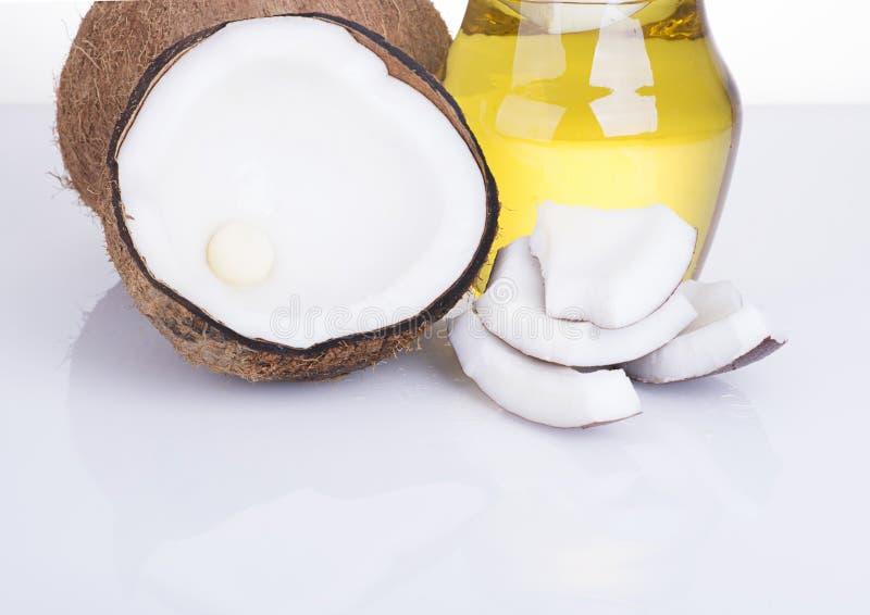 Image of coconut on white background stock image