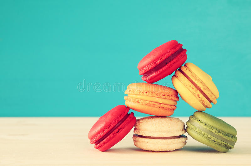 Download Image Of Colorful Macaron Or Macaroon Stock Photo - Image of lifestyle, kitchen: 83706768