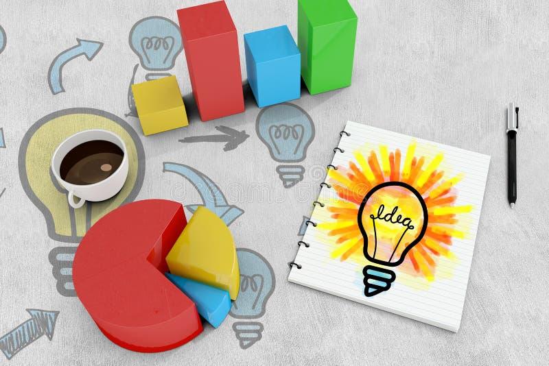Download Image Composée D'ampoule D'idée Illustration Stock - Illustration du graphique, témoin: 56479592