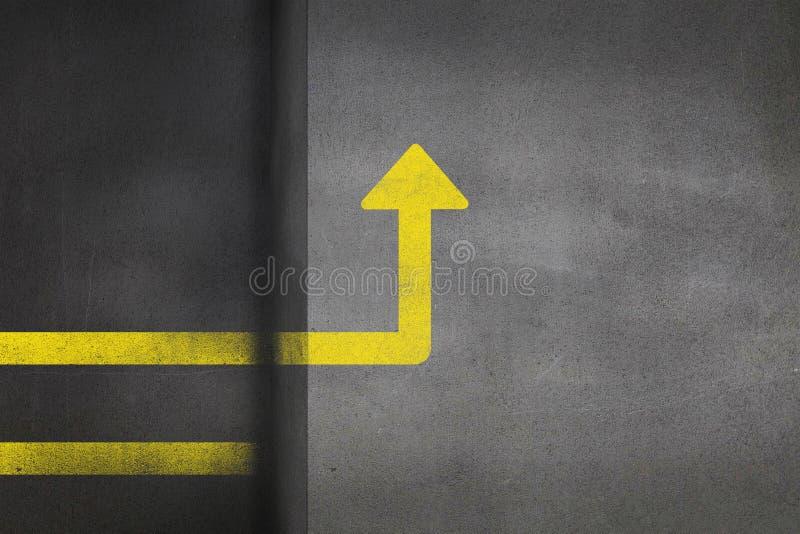 Image composée d'image digitalement produite de signe directionnel illustration libre de droits