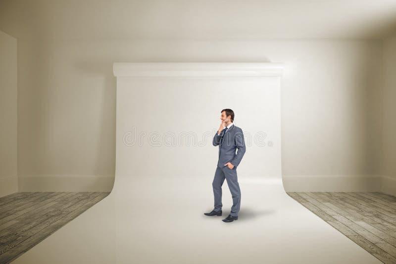 Image composée d'homme d'affaires de pensée images libres de droits