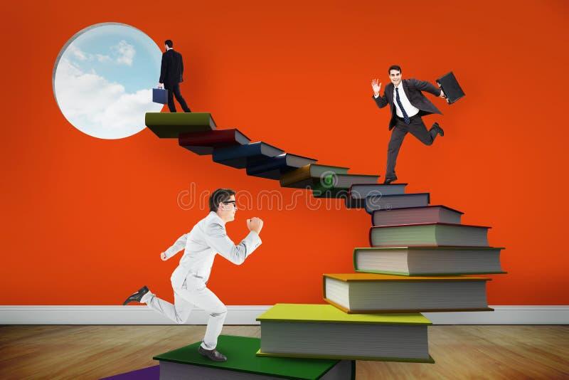 Download Image Composée D'homme D'affaires Gai Pressé Image stock - Image du livre, serviette: 56478441