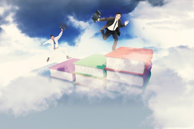 Download Image Composée D'homme D'affaires Sautant Gai Avec Sa Valise Image stock - Image du produit, altitude: 56478097