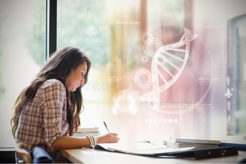 Image composée d'illustration de l'ADN photographie stock