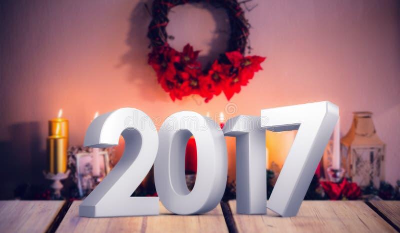 Image composée d'illustration du nombre de nouvelle année illustration de vecteur