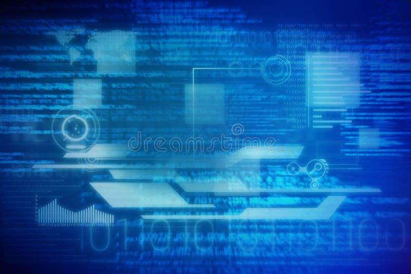 Image composée d'image digitalement composée d'interface technologique illustration de vecteur