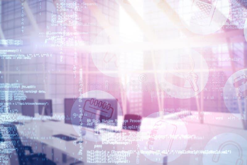Image composée d'image digitalement composée de l'interface technologique 3d illustration libre de droits