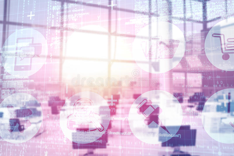 Image composée d'image digitalement composée de l'interface technologique 3d illustration de vecteur