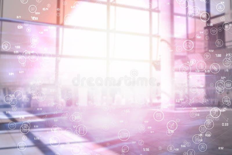 Image composée d'image digitalement composée de l'interface technologique 3d illustration stock