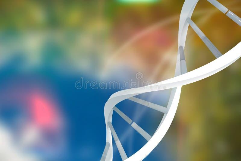 Image composée d'image digitalement produite de rayon léger rose illustration de vecteur