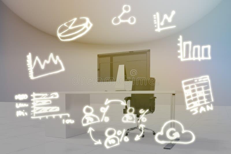 Image composée d'image digitalement produite des icônes d'ordinateur illustration stock