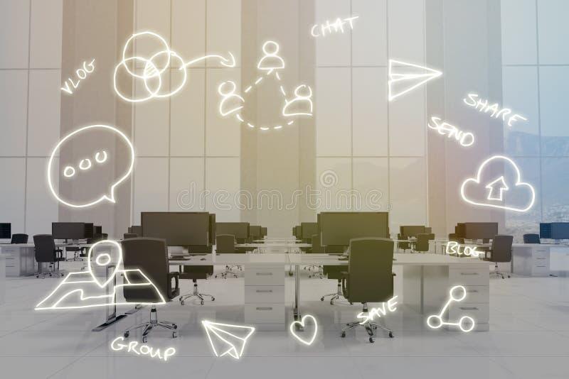 Image composée d'image digitalement produite des symboles d'ordinateur illustration stock