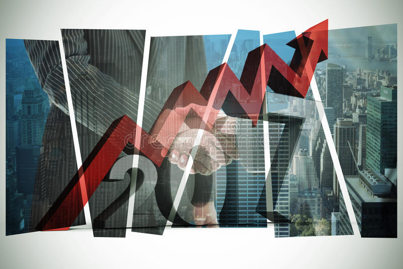 Image composée d'image digitalement produite du nombre avec le symbole de flèche illustration de vecteur
