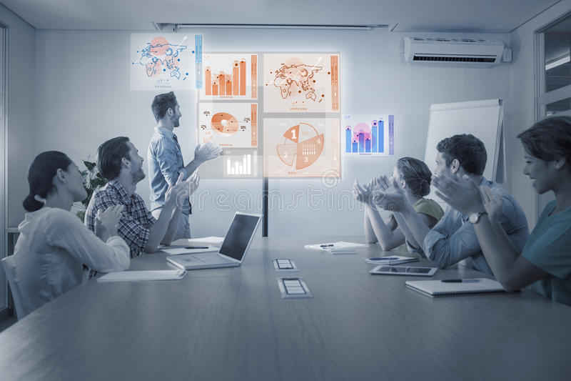Image composée d'interface d'affaires globales image libre de droits