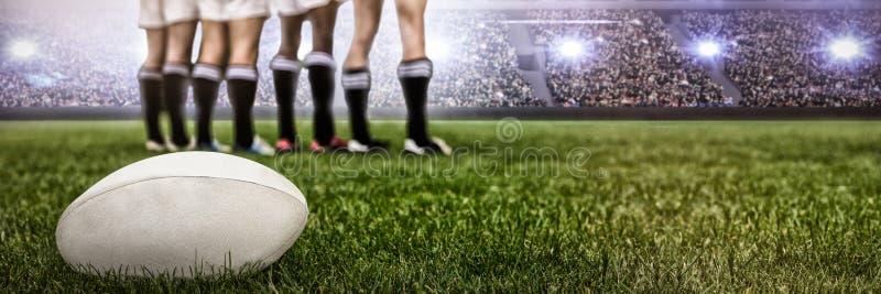 Image composée d'image numérique de stade de football serré image libre de droits
