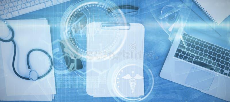 Image composée d'image composée numérique d'hélice d'ADN illustration libre de droits